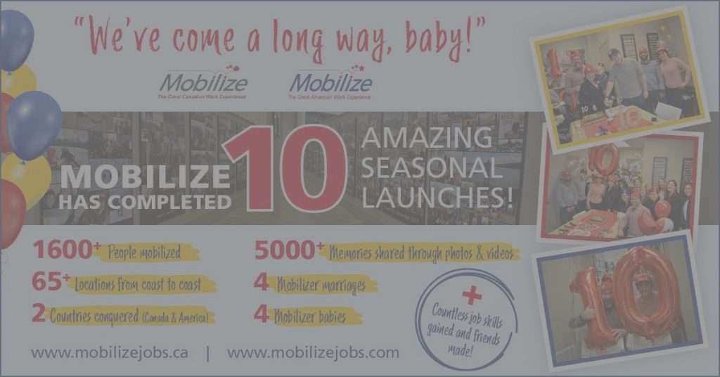 Mobilize celebrates 10 seasonal launches