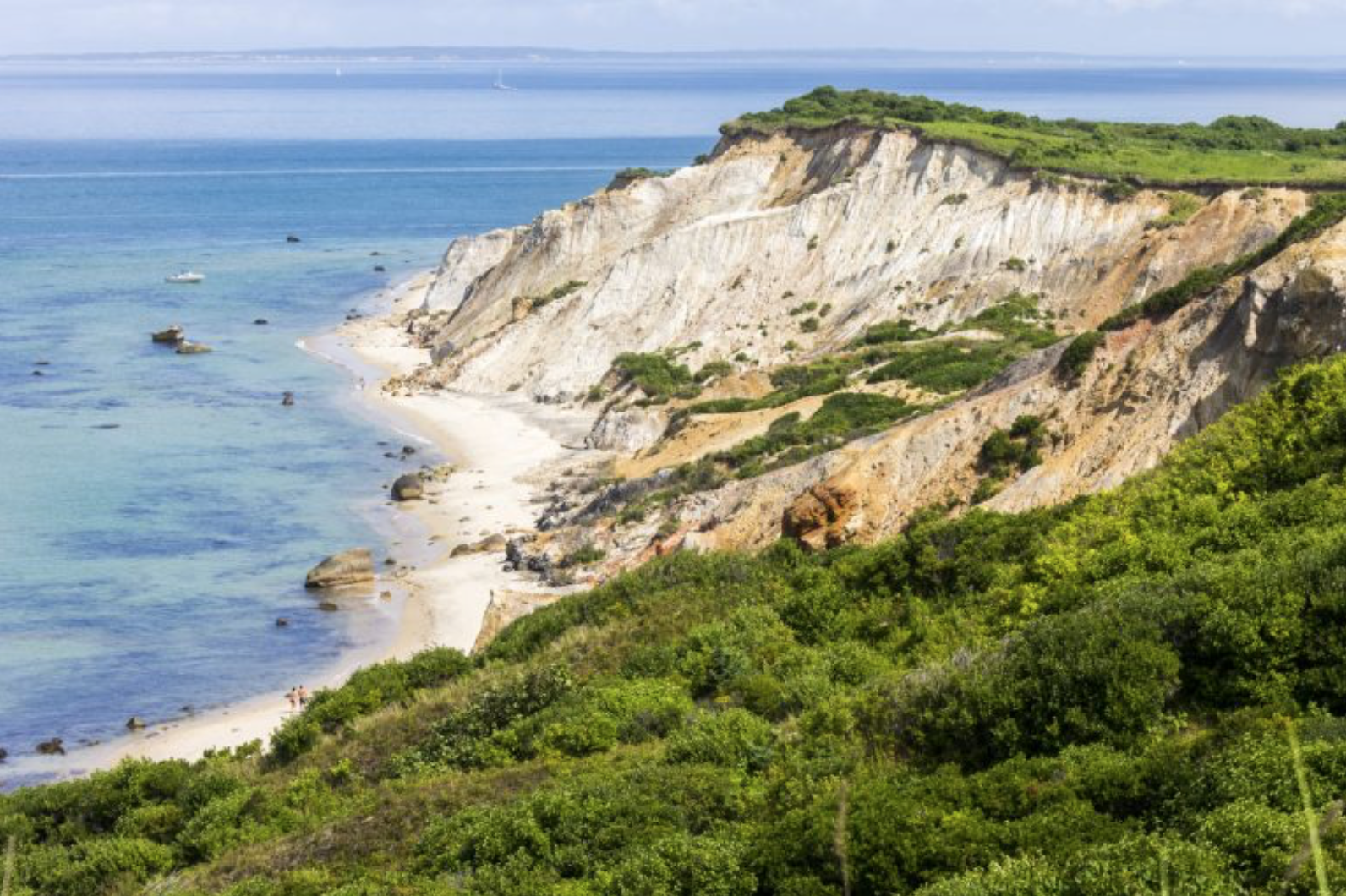Stunning cliffs in Cape Cod, Massachusetts.
